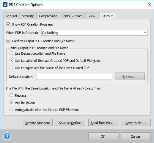 Able2Extract Professional 12 Printer Setting