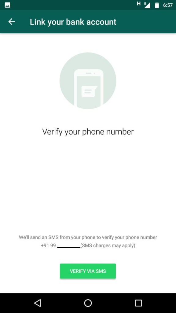 WhatsApp Payment Mobile Number Confirmation