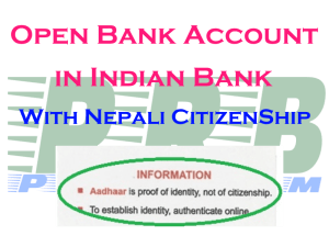 Opening Bank Account in India for Nepali Citizen – PRB