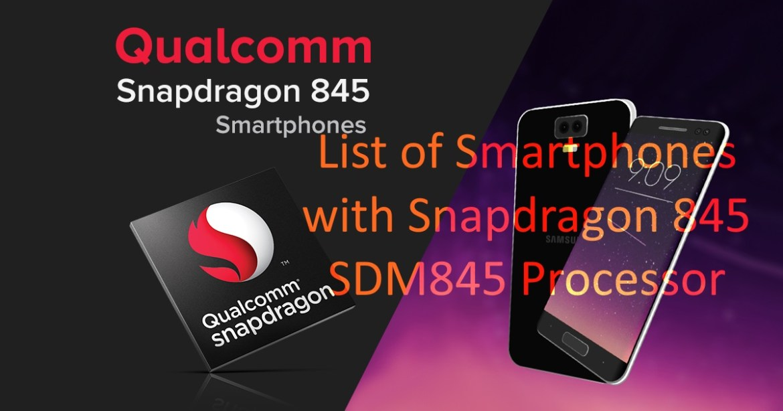 Snapdragon 845 SDM845
