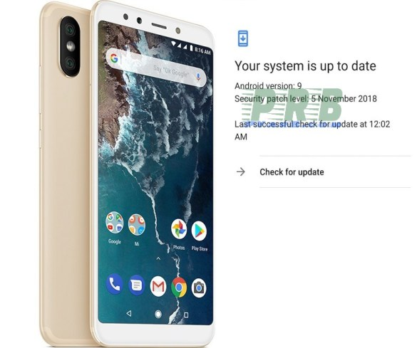 Mi A2 receiving Android Pie