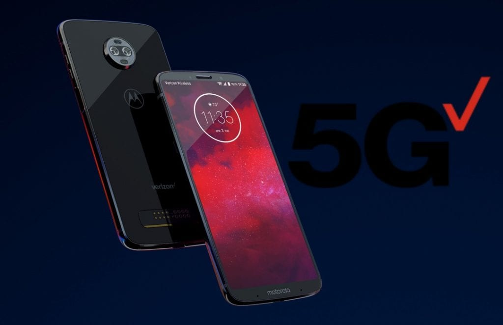 MOTO Z3 successfully tests 5G
