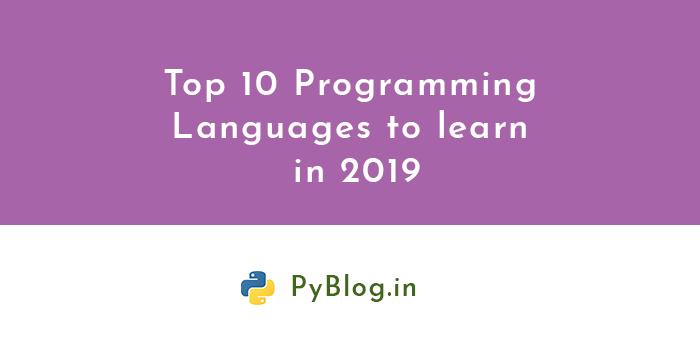 top 10 programming languages 2019