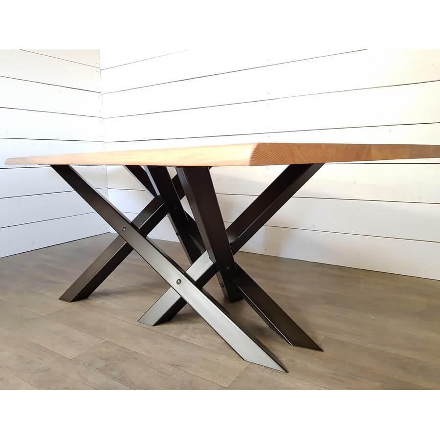pied de table metal double x ref ddx