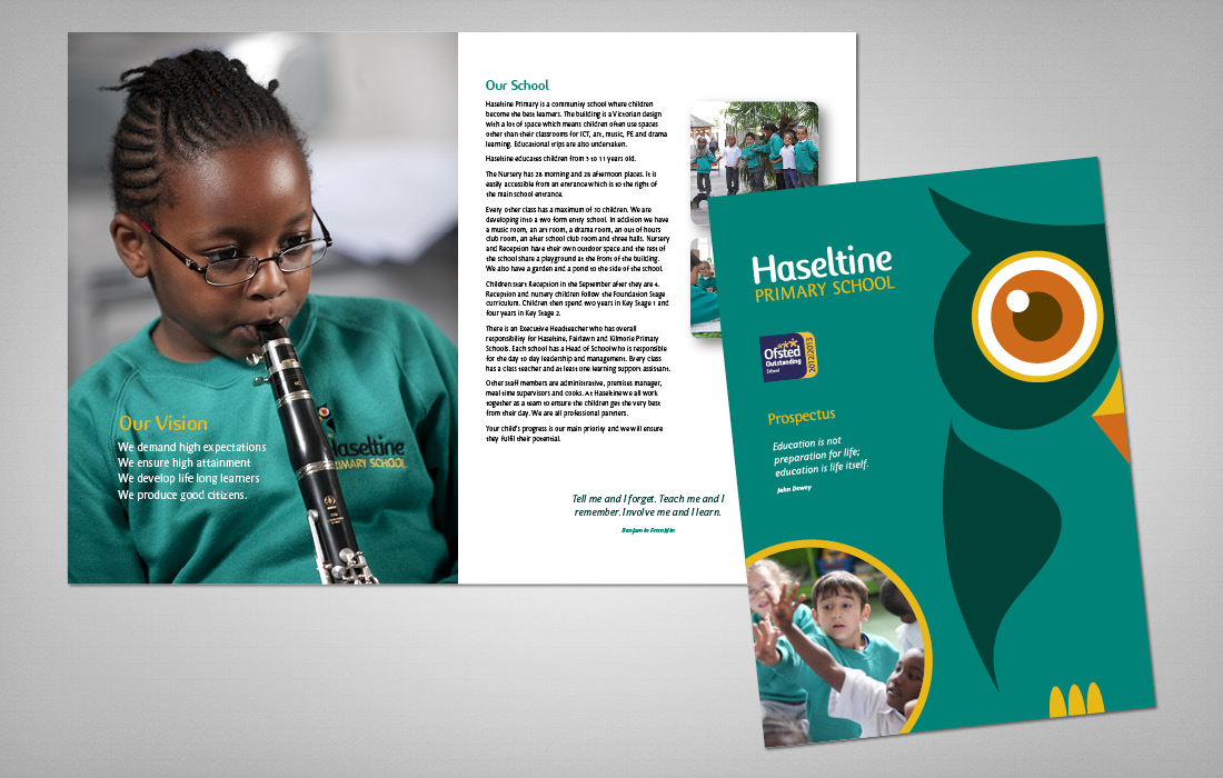Brand led and fun approach to Haseltine's prospectus by Pylon Design