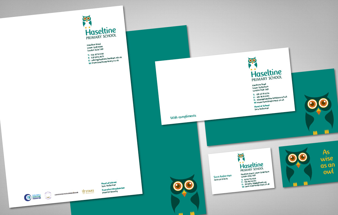 Haseltine's fresh, professional stationery range by Pylon Design