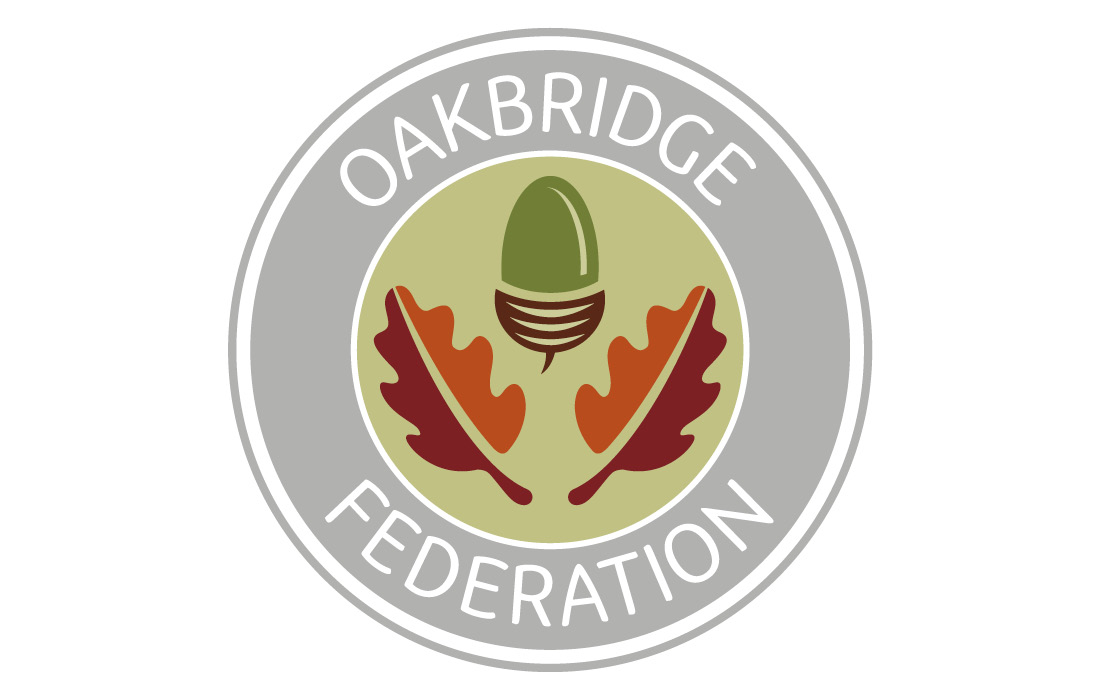 A colour coded logo for the Oakbridge Federation by Pylon Design