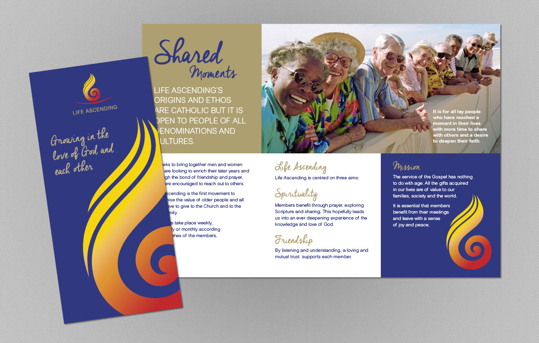 A friendly approach to Life Ascending's leaflet by Pylon Design