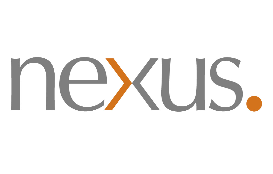 Typographical logo for Nexus by Pylon Design