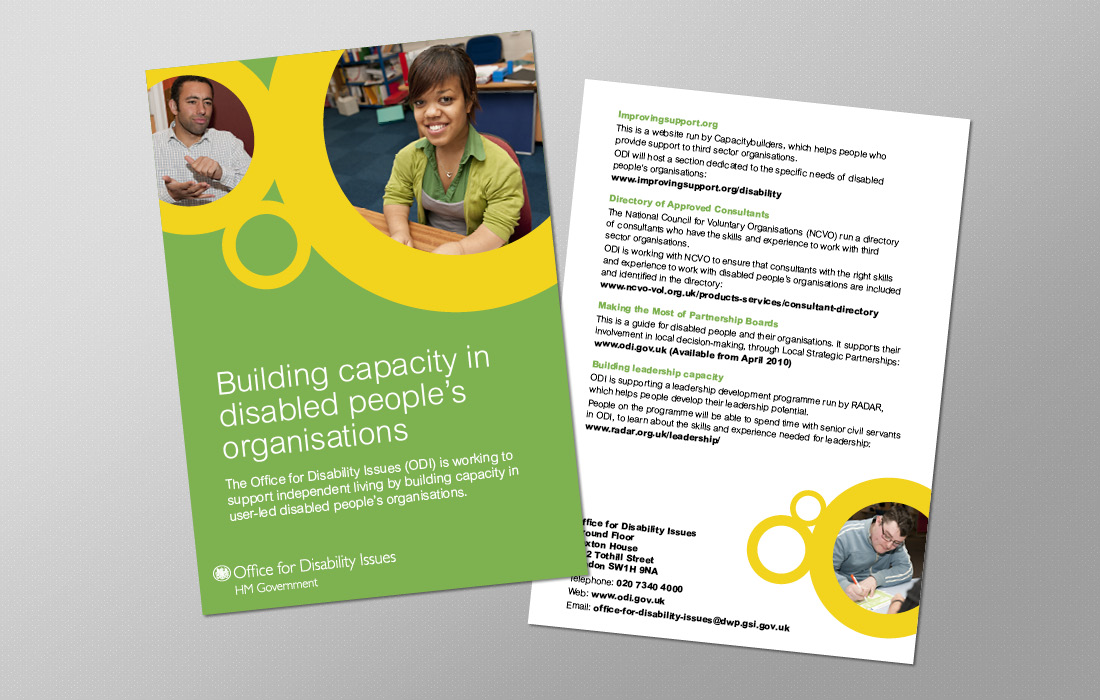 Corporate leaflet for the ODI by Pylon design