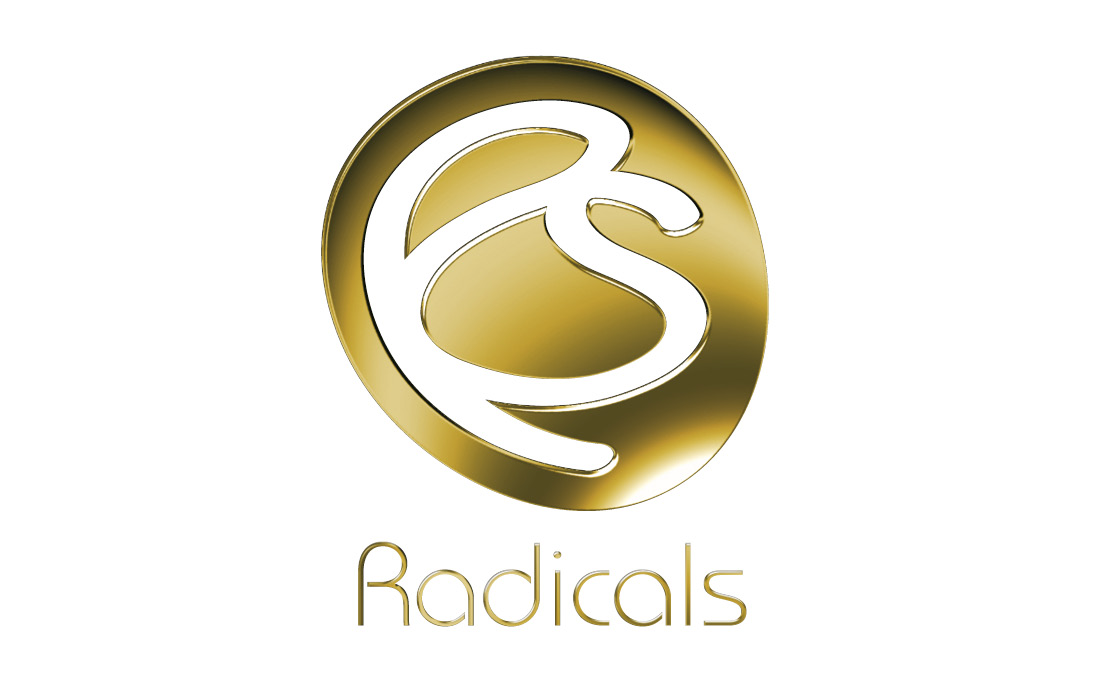 Raw and refined logo for Radicals by Pylon Design