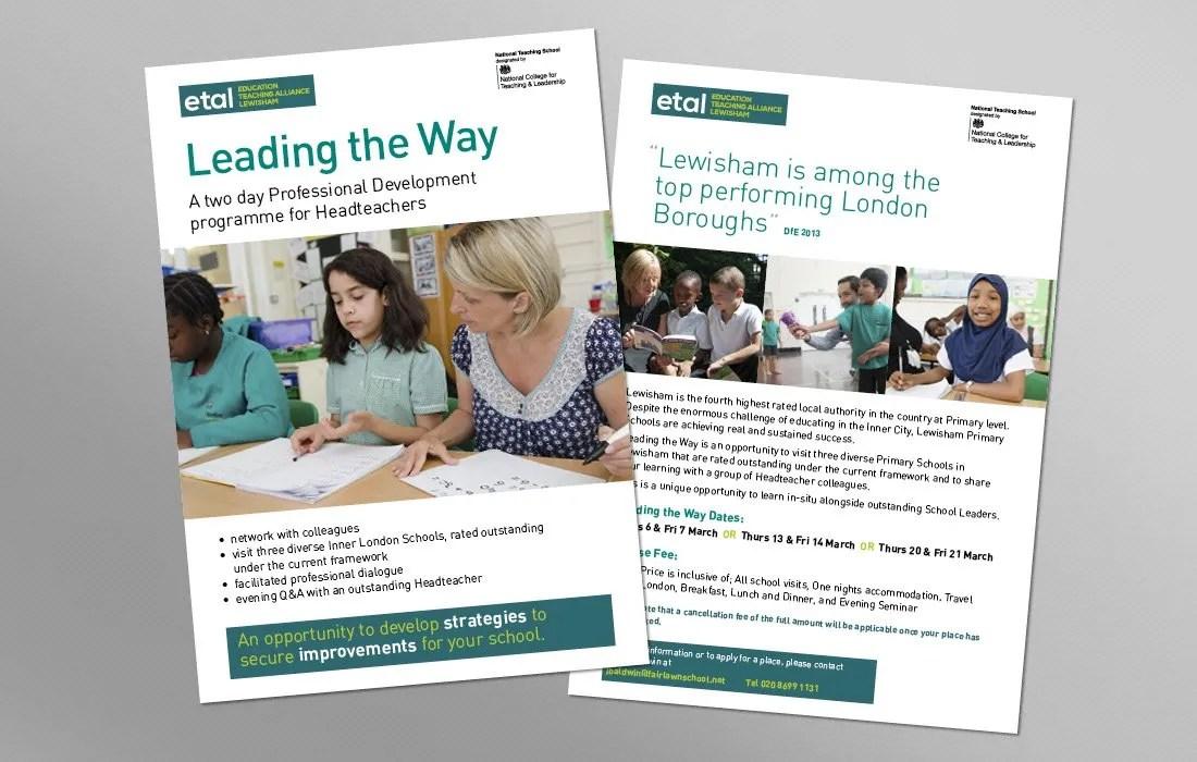 Corporate ETAL information leaflets by Pylon Design