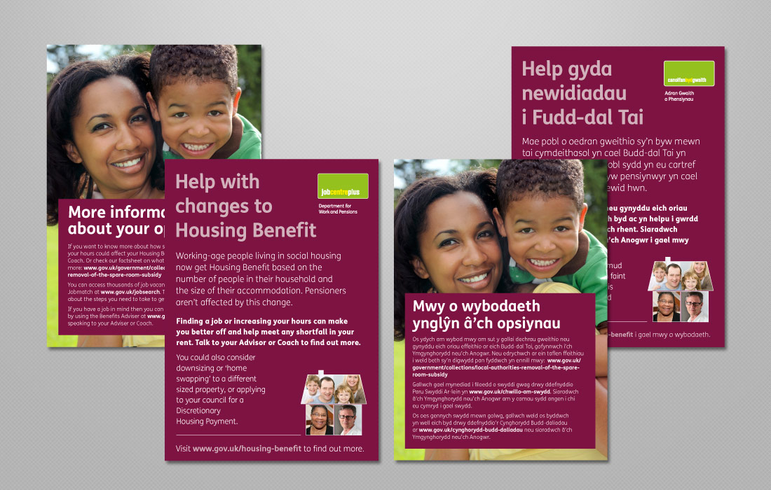 Communication leaflets for the DWP
