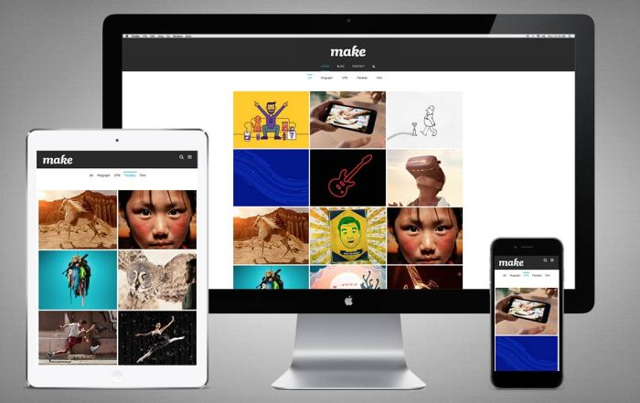 Make Productions - Motion Graphics Website, London