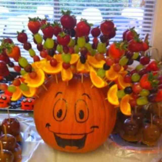 Halloween pumpkin hair deisgn