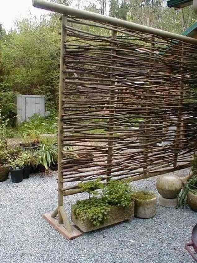wattle fencing screen