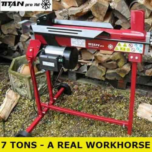 Titan Pro 7 ton electric log splitter