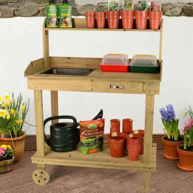 Garden potting table