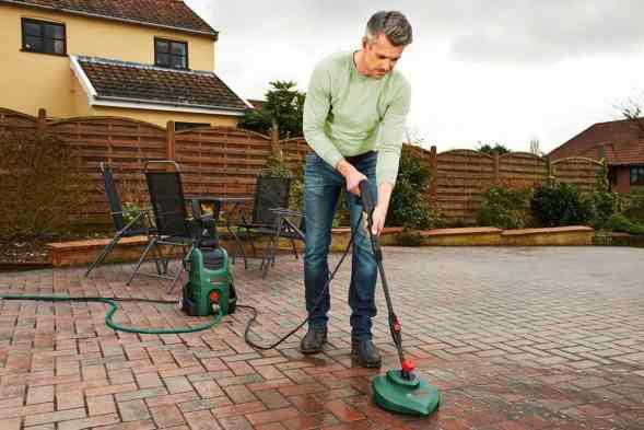 Bosch AQT 37-13 Plus Pressure Washer patio cleaner