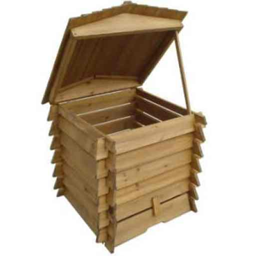 Wooden Compost Bin 328L in BeeHive Style 337 review