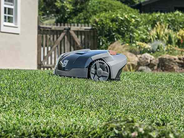 Husqvarna Automower 105 Robot Lawnmower on grass