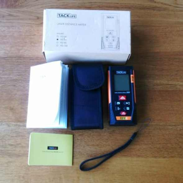 Tacklife laser distance measurer whats included.