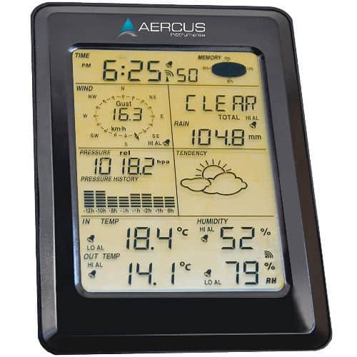 Weather Station Wireless WS1093 screen panel