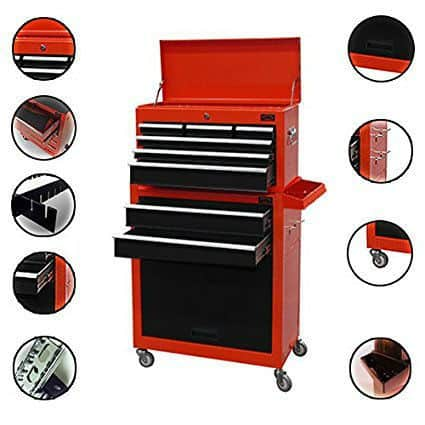Dirty Pro Tools™ LARGE TOOL CHEST WITH DRAWER DIVIDER TOP CABINET TOP BOX AND ROLLCAB BOX Review