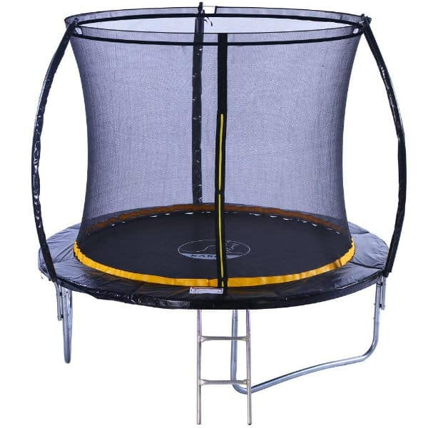 This comes in four sizes and even the largest 12ft version costs less than £200, far less than many other models of the same size. The smaller versions can easily slot into limited spaces and still provide a safe environment to jump in, the trampolines having met CE, GS, TUV and EN71 standards.