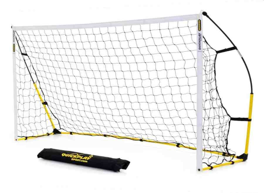 The QUICKPLAY Kickster Fun Goal - 8ft x 4ft & 8ft x 5ft makes a good choice for children up to 11 years. They have simple designs that even kids can set them up on their own. The goals are also lighter than many others in the same range, so you will have an easy time moving them should there be need. They come with heavy duty nets that can take the punishment and so are the frames. Not sure whether the deform and instant return characteristic is good or not, though, a unique feature after all. The supplied carry bag is handy as ever and we like the free warranty on parts provided by the manufacturer.
