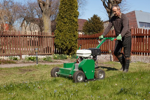aeration which also works well when using in conjunction with scarifying. Aerating your lawn allows better airflow and provides nutrients and water with the opportunity to penetrate compact lawns that are otherwise preventing the lawn from getting essential nutrients.
