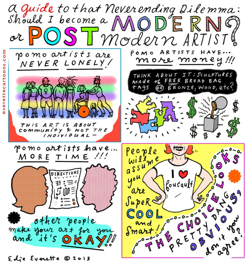 post modern and contemporary period in What is postmodern literature february pastiche came to prominence when artists realized that the contemporary moment presents little room for originality.