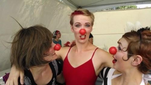 Sage Harrington, red nose clown