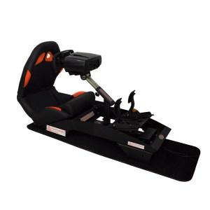 """Immagine del Sim Racing """"PY-Versione Formula"""" con schienale piegato in avanti"""