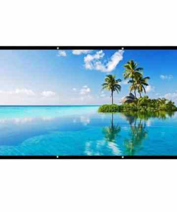 Electronics MANUAL PULL-DOWN PROJECTION SCREEN | 60 X 60 INCHES [tag]