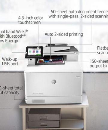 Computing HP Color LaserJet Pro Multifunction M479fdw Wireless Laser Printer