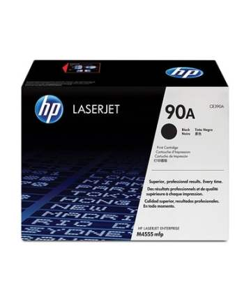 Printers & Accessories HP 90A (CE390A) Toner Cartridge, Black [tag]