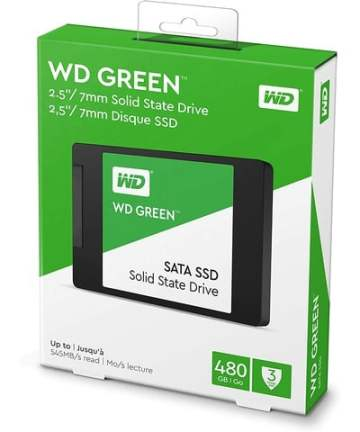 Computer Data Storage WD 480GB Green SATA III 2.5″ Internal SSD WDS480G1G0A [tag]