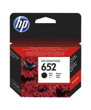 Printers & Accessories HP 652 Black Original Ink Advantage Cartridge [tag]
