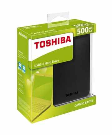 Computer Data Storage Toshiba Canvio Basics – External Hard Drive – USB 3.0 – 500GB – Black_ [tag]