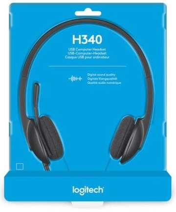 Electronics Logitech USB Headset H340, Stereo, USB Headset for Windows and Mac,Skype, and online Learning
