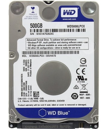 Computer Components Western Digital WD5000LPCX 500 GB SATA 2.5-inch Laptop Hard Drive