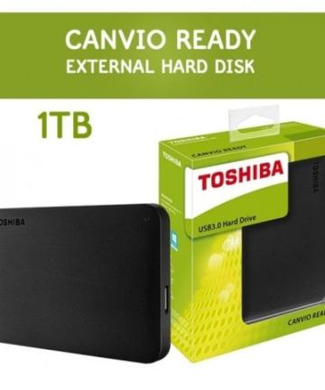 Computer Data Storage Toshiba Canvio Basics 1TB Portable Hard Drive – Black [tag]