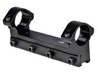 """RWS Lock Down 1-Pc Mount w/1"""" Rings, 11mm Dovetail, Barrel Droop Compensation"""