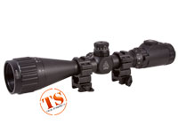 "Leapers UTG 3-9x40 AO True Hunter Rifle Scope, EZ-TAP, Illuminated Mil-Dot Reticle, 1/4 MOA, 1"" Tube, See-Thru Weaver Rings"