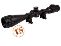 "UTG 4-16x40 AO Rifle Scope, EZ-TAP, Illuminated Mil-Dot Reticle, 1/4 MOA, 1"" Tube, See-Thru Weaver Rings"