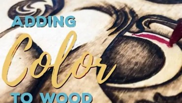 How to Wood Burn Designs with Color