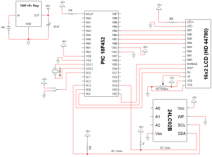 I2C PIC Interfacing Tutorial  Schematic | PyroElectro