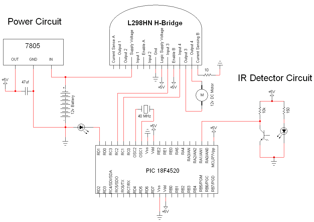Optical Encoder Circuit Diagram