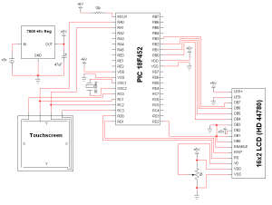 Simple Touch Screen Interface  Schematic | PyroElectro